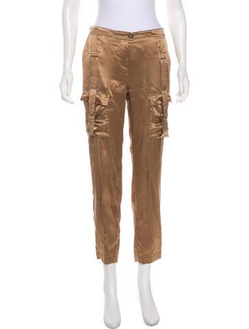 Roberto Cavalli Silk Straight Leg Pants None