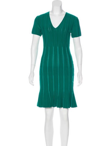 Roberto Cavalli Rib Knit Knee-Length Dress None