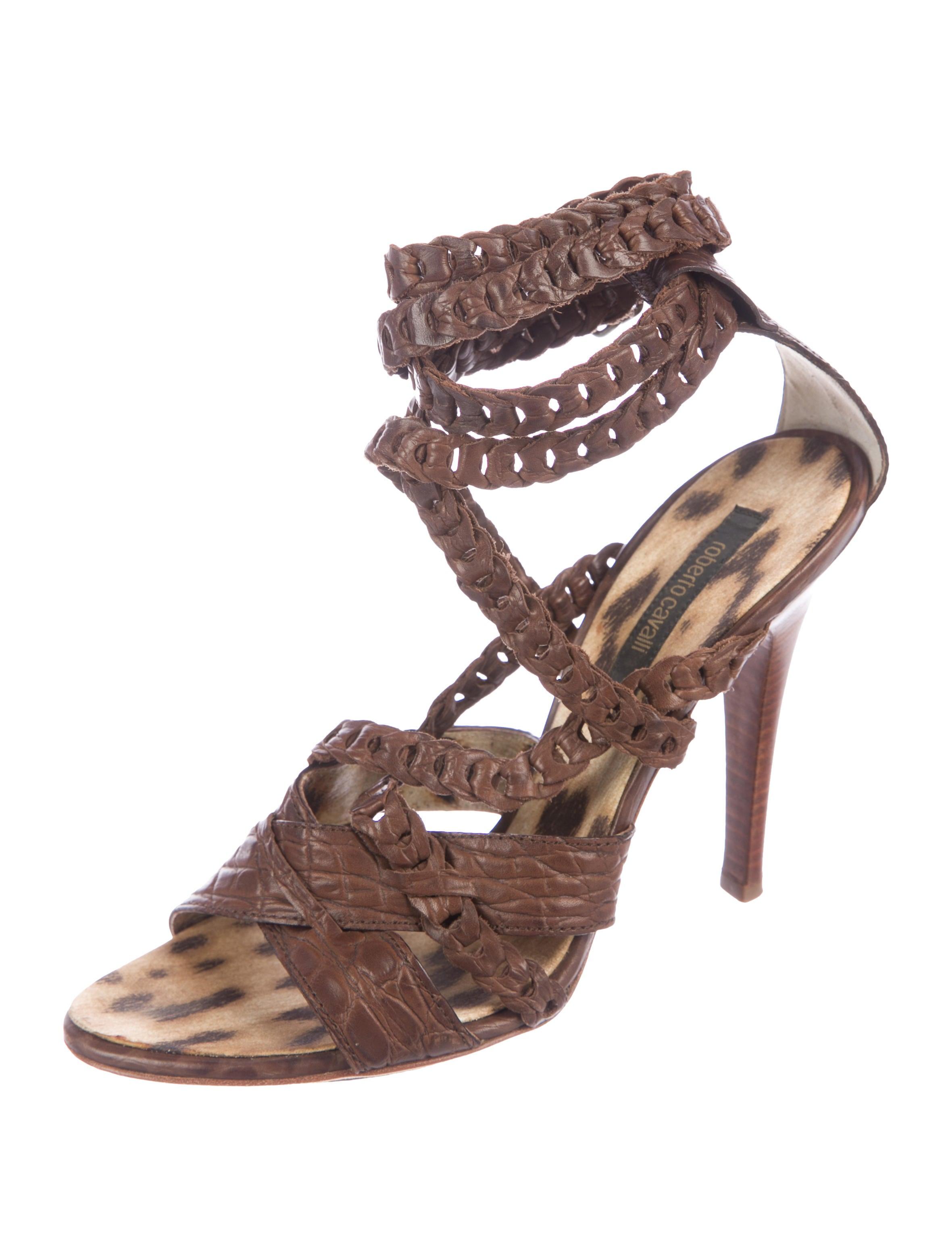 cheap sale footlocker finishline Roberto Cavalli Embossed Multistrap Sandals under 50 dollars sale websites OzFQeeTv