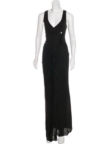 Roberto Cavalli Ruffle-Trimmed Evening Dress None