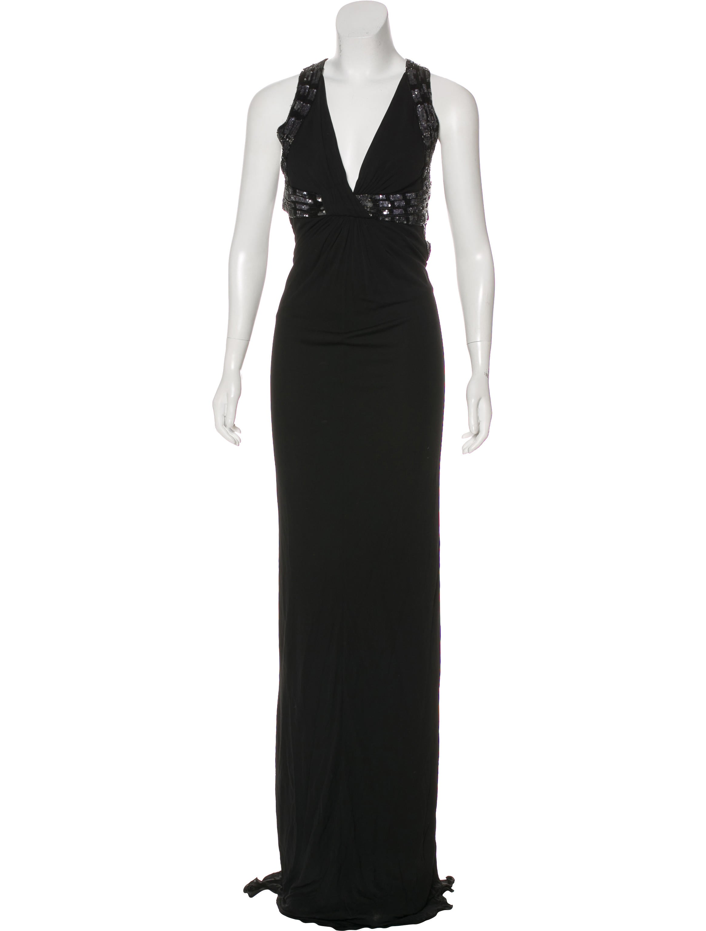 Roberto Cavalli Beaded V-Neck Gown - Clothing - ROB52656   The RealReal