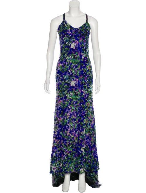 Roberto Cavalli Printed Maxi Dress Purple