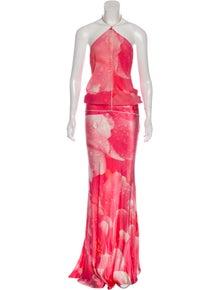 c07e98a50a8b3 Roberto Cavalli. Silk Evening Dress