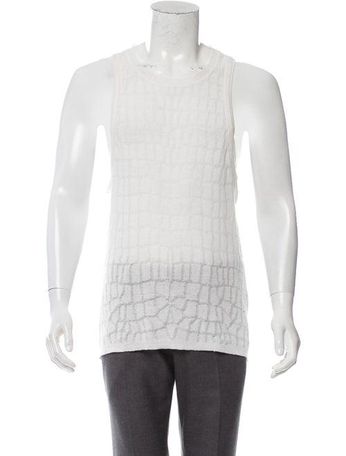 Roberto Cavalli Knit Linen Tank white