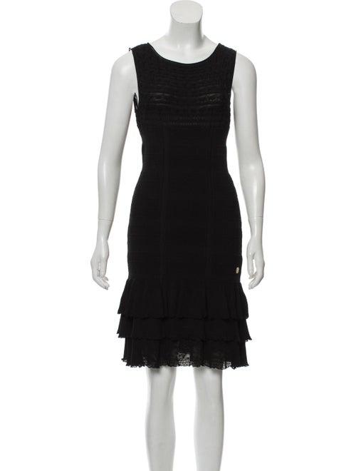 Roberto Cavalli Textured Knit Dress Black