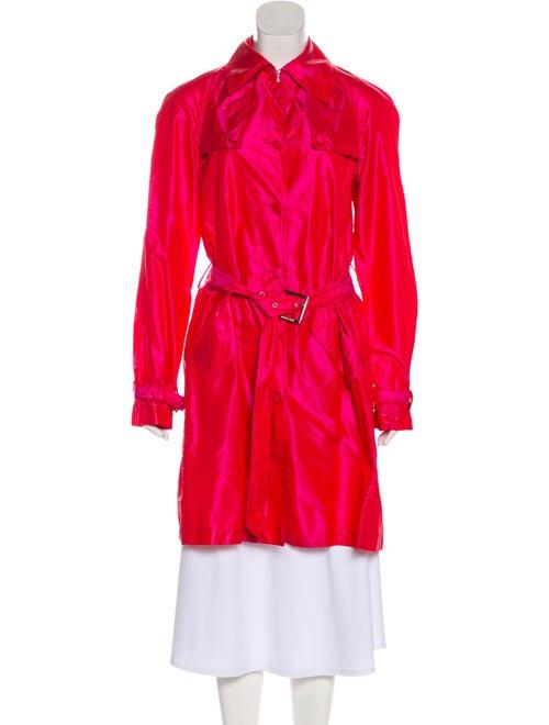 Roberto Cavalli Silk Trench Coat Pink