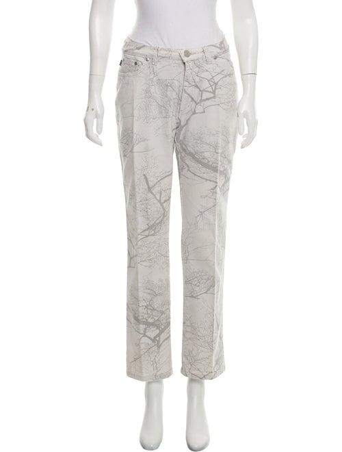 Roberto Cavalli Mid-Rise Printed Jeans grey