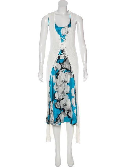 Roberto Cavalli Printed Maxi Dress White