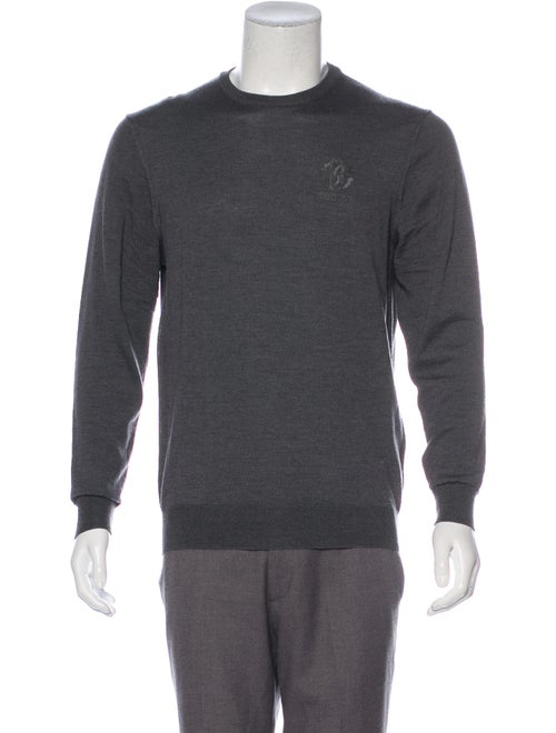 Roberto Cavalli Logo embroidered Wool Sweater grey