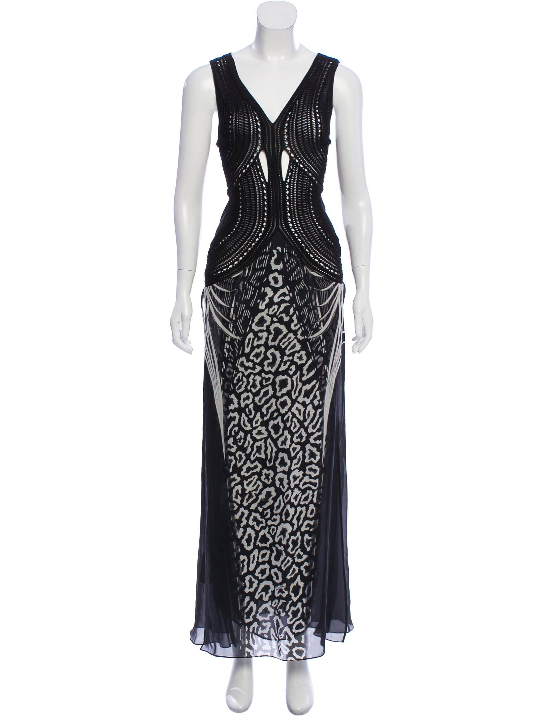 Roberto Cavalli V-Neck Maxi Dress - Clothing -           ROB75627 | The RealReal