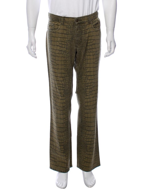 Roberto Cavalli Relaxed Printed Jeans green