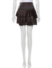 Roberto Cavalli Pleated Accents Mini Skirt w/ Tags