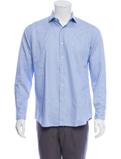 Roberto Cavalli Jacquard Polka Dot Shirt blue