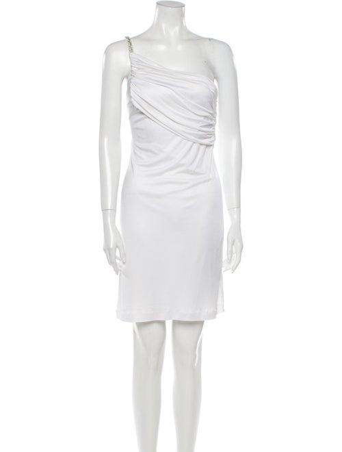 Roberto Cavalli One-Shoulder Mini Dress White