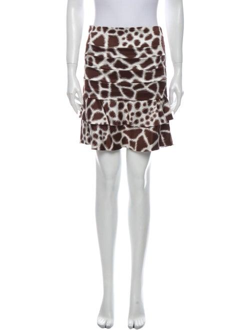 Roberto Cavalli Silk Mini Skirt Brown - image 1