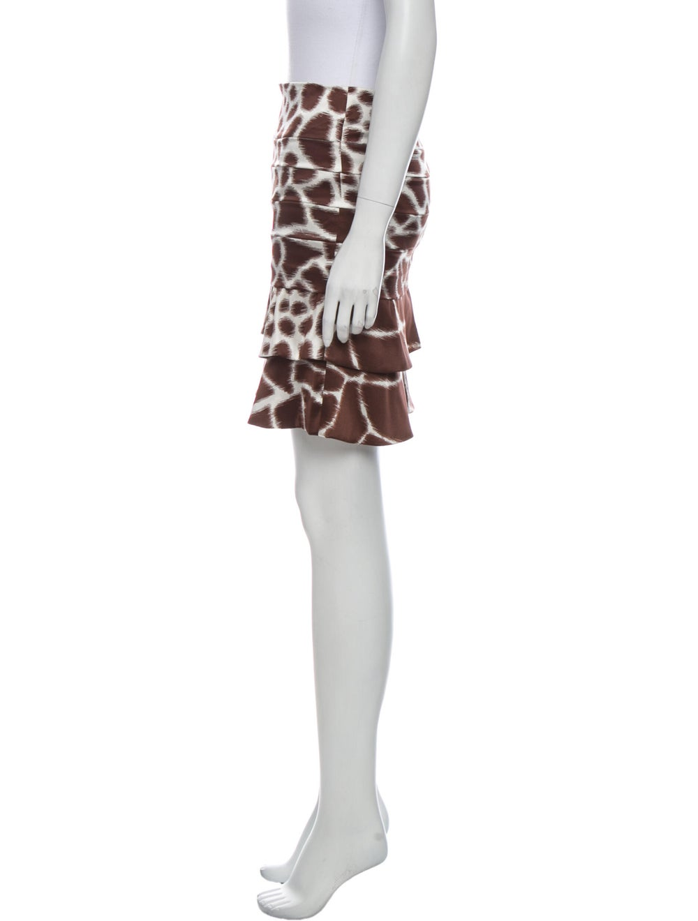 Roberto Cavalli Silk Mini Skirt Brown - image 2