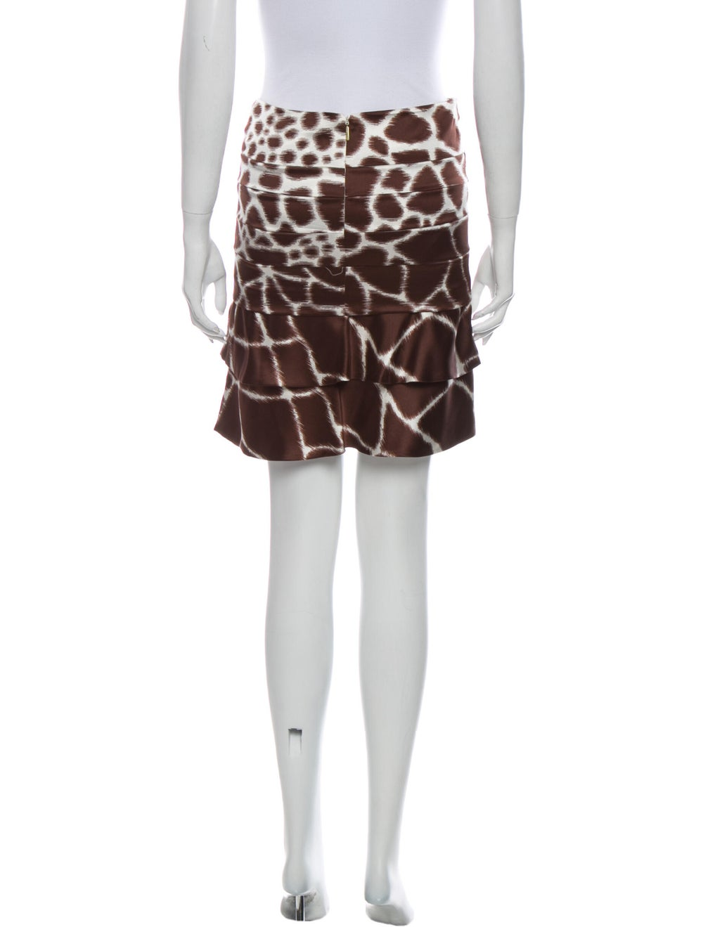 Roberto Cavalli Silk Mini Skirt Brown - image 3
