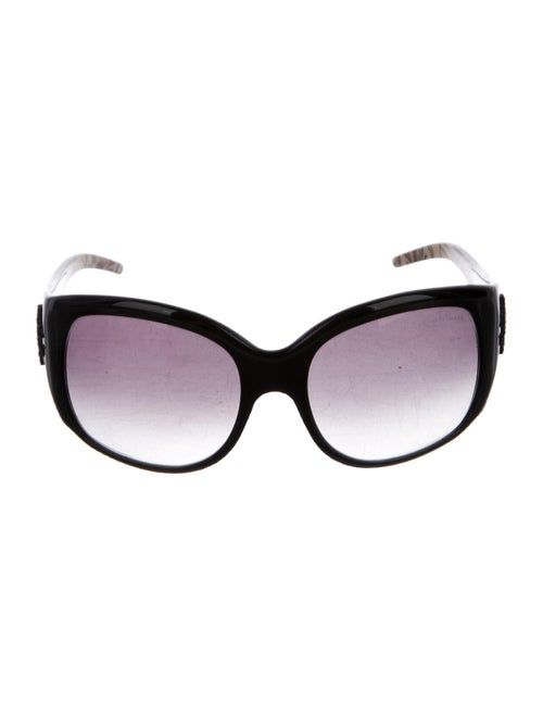 Roberto Cavalli Embellished Oversize Sunglasses Bl