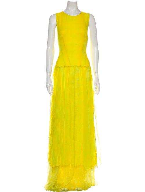 Roberto Cavalli Silk Long Dress w/ Tags Yellow