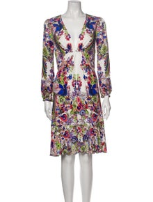 Roberto Cavalli Floral Print Knee-Length Dress
