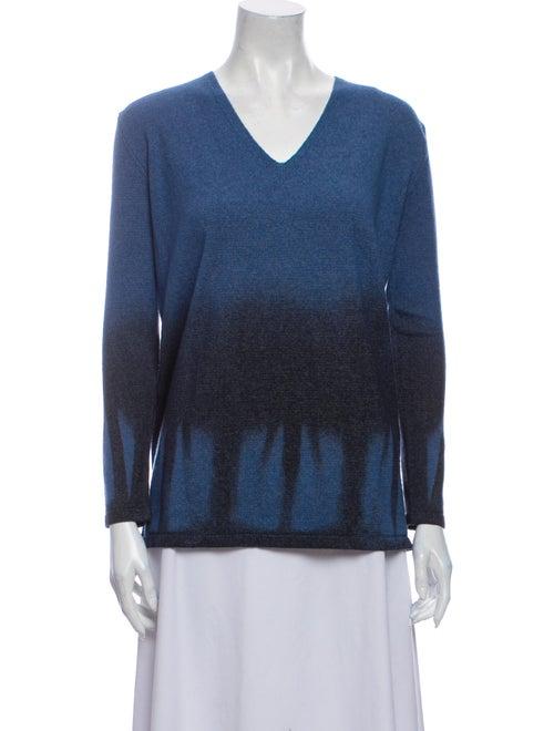 Roberto Cavalli Wool Tie-Dye Print Sweater Wool - image 1