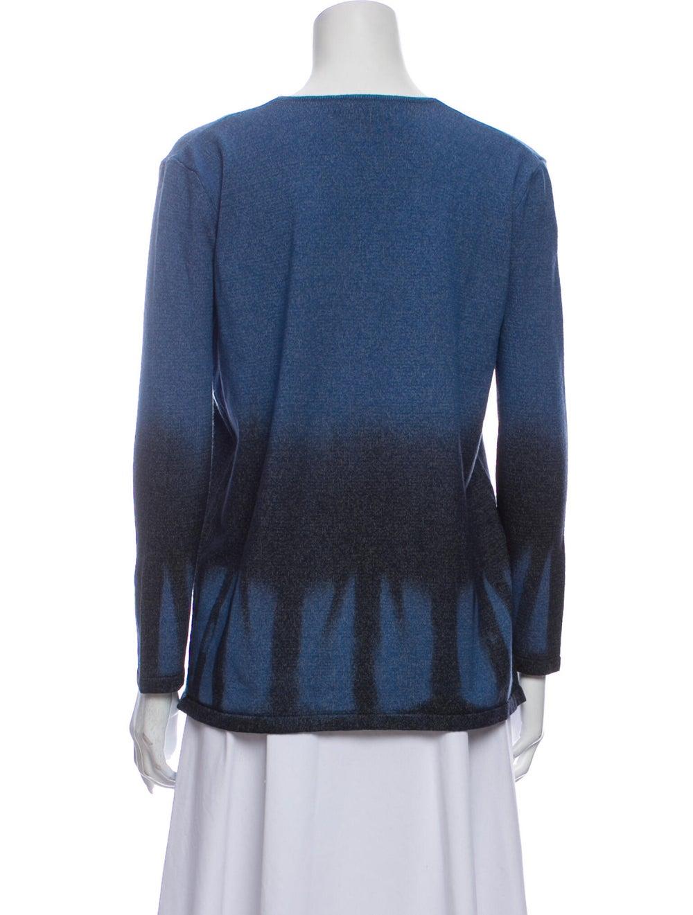 Roberto Cavalli Wool Tie-Dye Print Sweater Wool - image 3