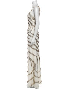 Roberto Cavalli Silk Long Dress