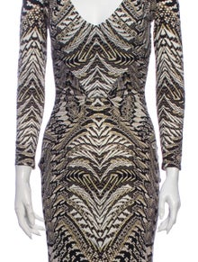 Roberto Cavalli Animal Print Knee-Length Dress