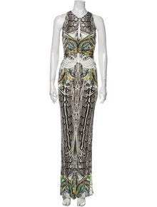 Roberto Cavalli Printed Long Dress