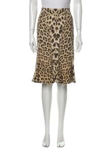 Roberto Cavalli Animal Print Knee-Length Skirt