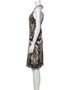 Roberto Cavalli Animal Print Knee-Length Dress