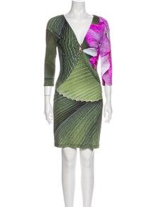 Roberto Cavalli Striped Mini Dress