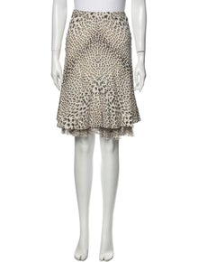 Roberto Cavalli Silk Knee-Length Skirt