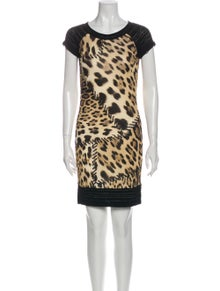 Roberto Cavalli Animal Print Mini Dress