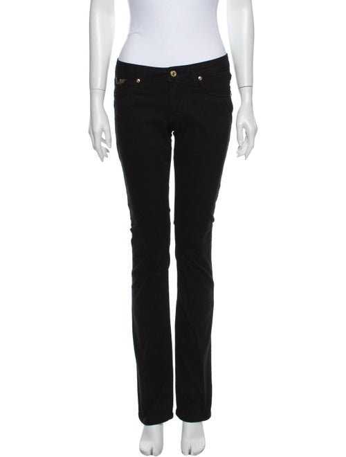 Robin's Jeans Low-Rise Straight Leg Jeans Black
