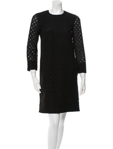 Rochas Eyelet Mini Dress