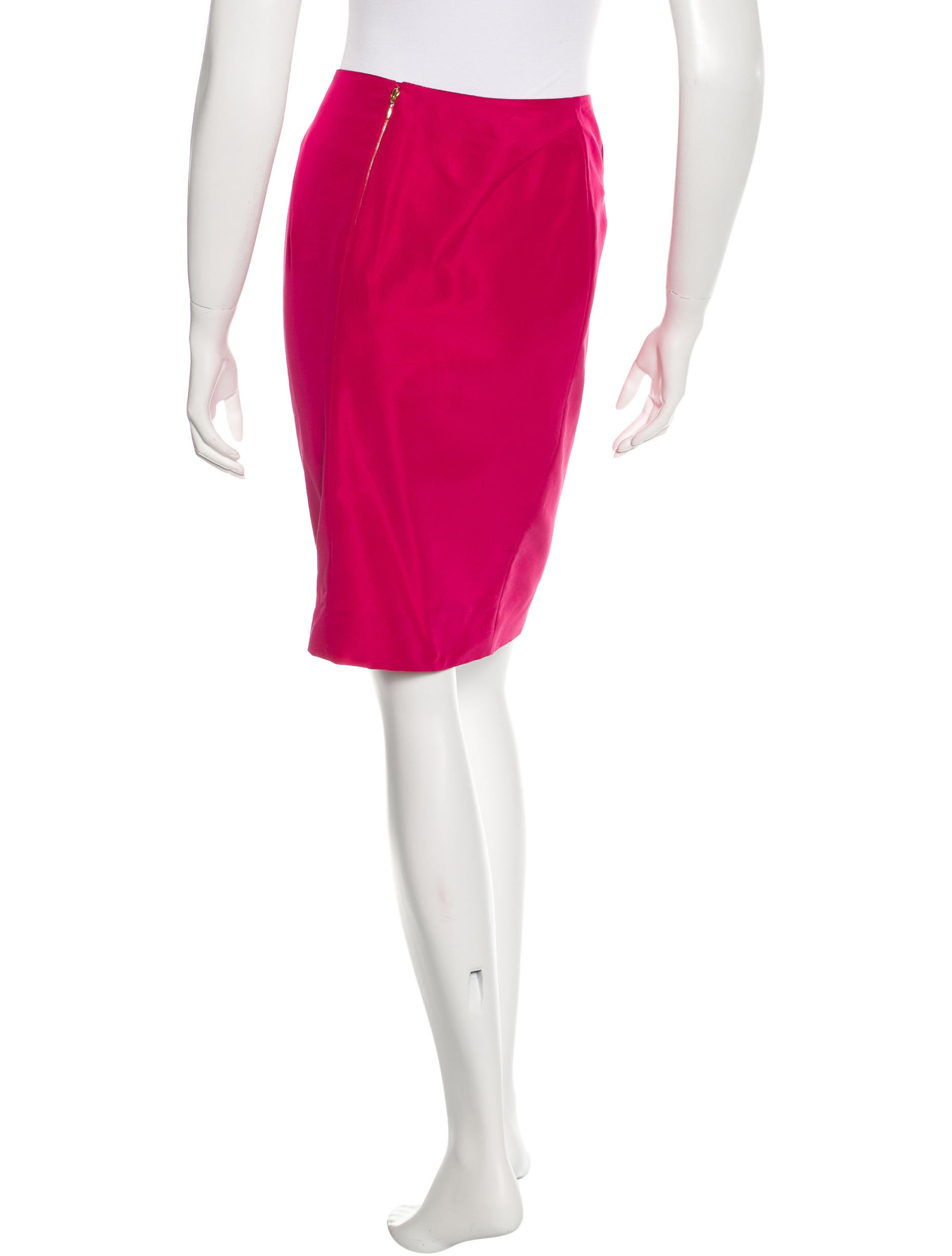 rochas knee length pencil skirt clothing roc21528