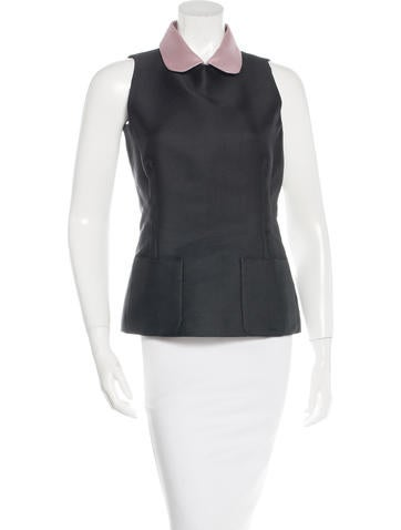 Rochas Pocketed Sleeveless Top None