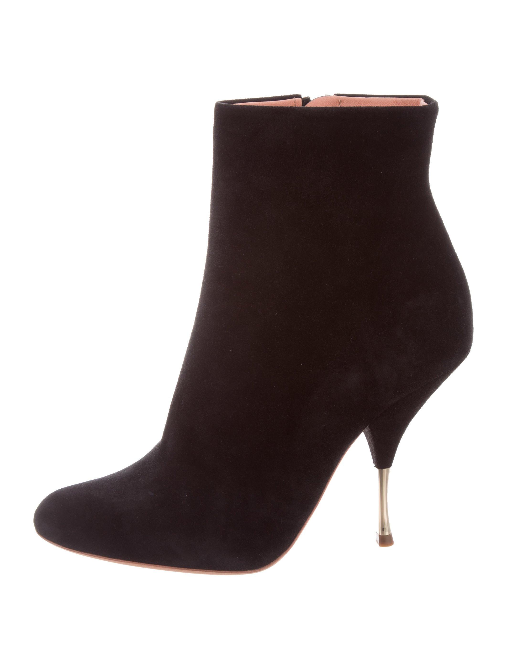 Rochas Suede Pointed-Toe Ankle Boots