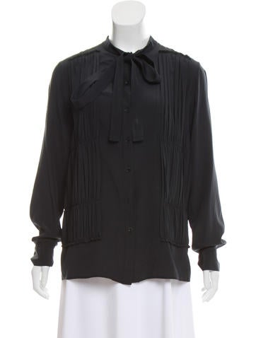 Rochas Silk Button-Up Top None