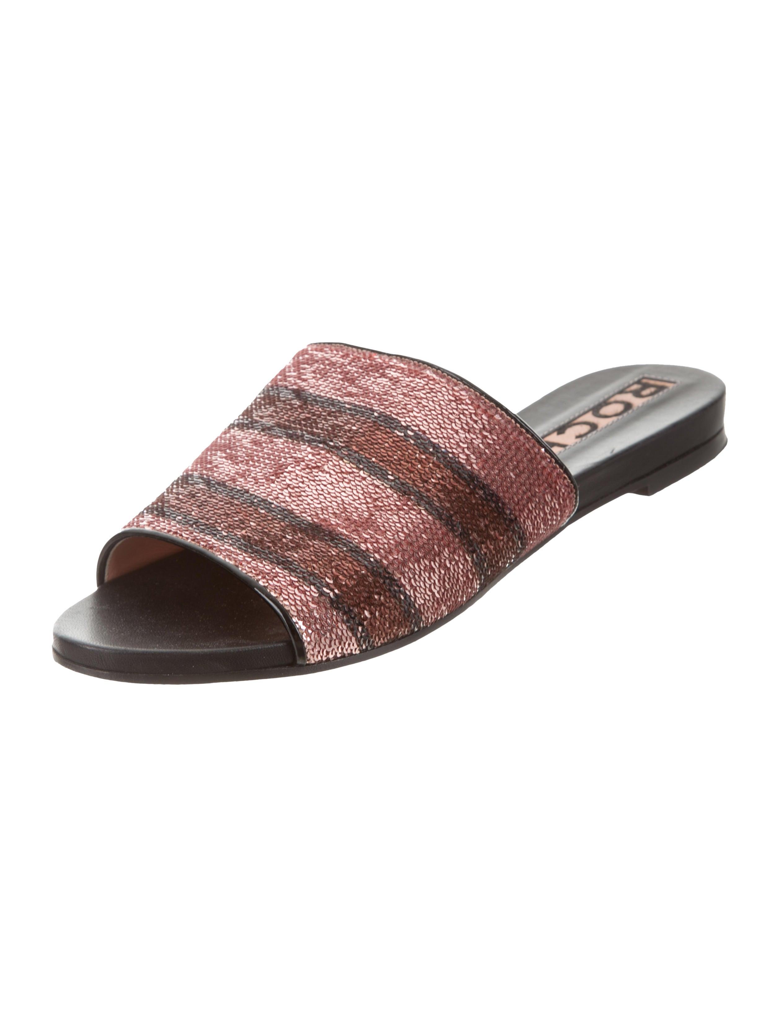 Rochas Sequin Slide Sandals clearance ebay 899Gu317pK