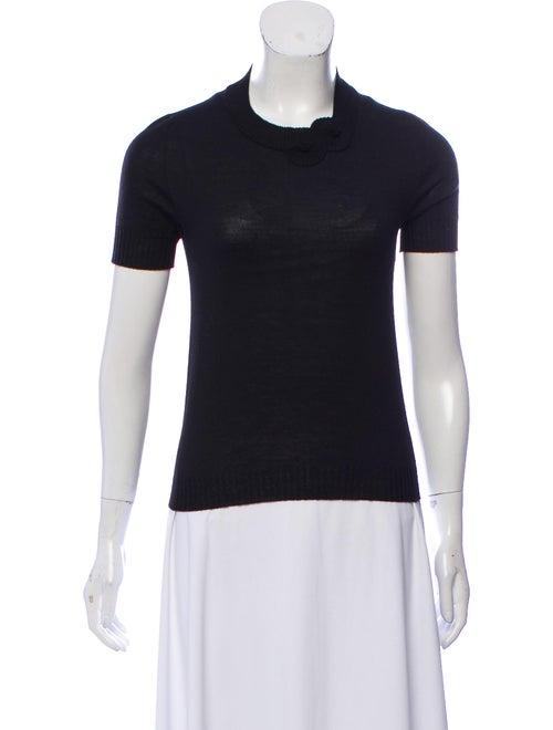 Rochas Knit Short Sleeve Sweater Black
