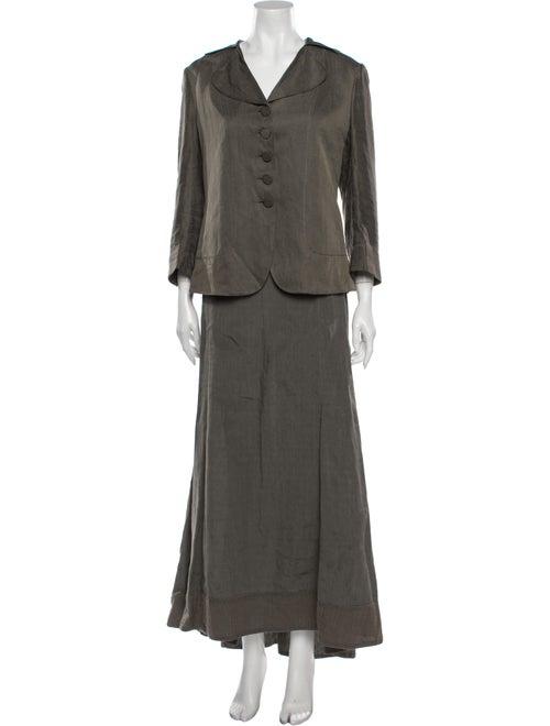 Rochas Linen Pantsuit Grey