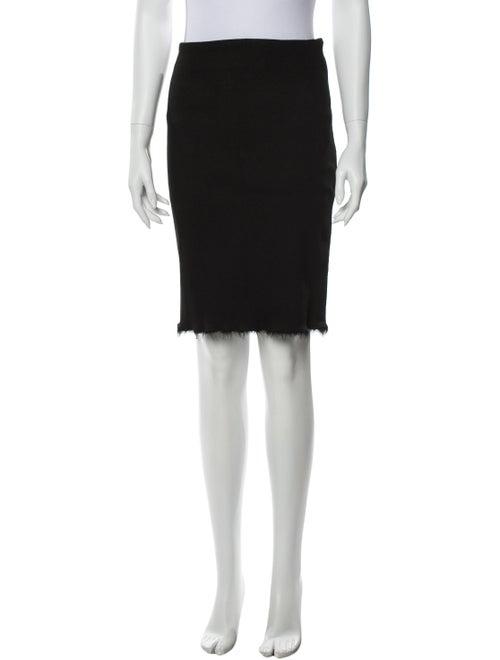 Rochas Knee-Length Skirt Black