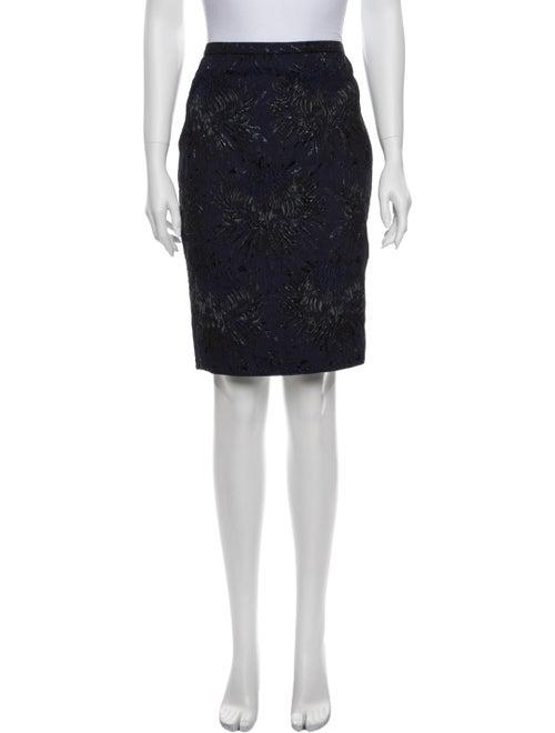 Rochas Printed Knee-Length Skirt Blue