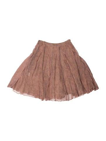 Metallic Ruched Skirt