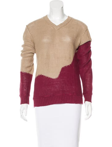 Rodarte x Opening Ceremony Linen Open Knit Sweater None