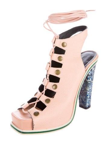 Lace-Up Platform Sandals