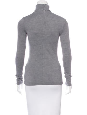 Wool-Blend Turtleneck Top