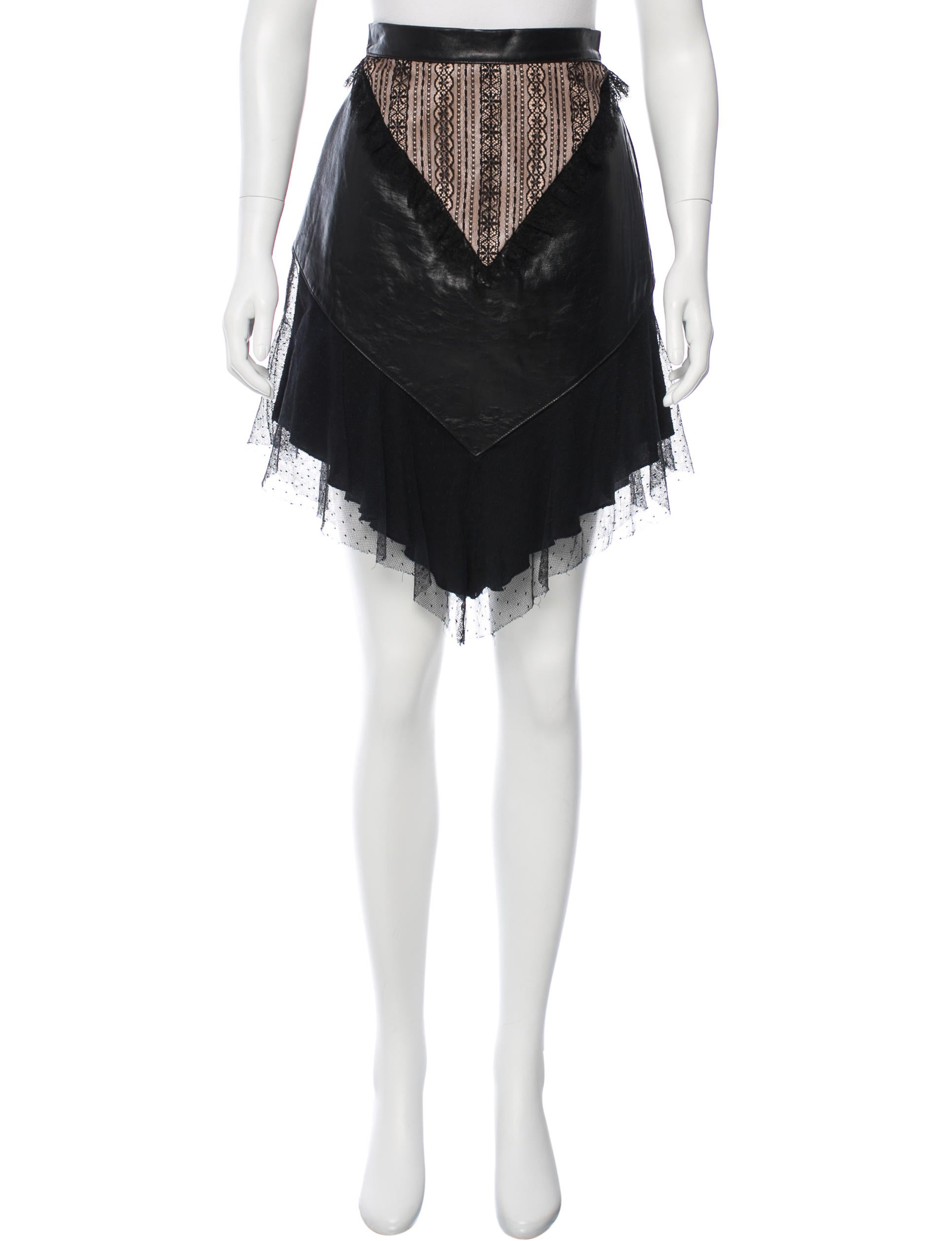 rodarte leather accented asymmetrical skirt w tags